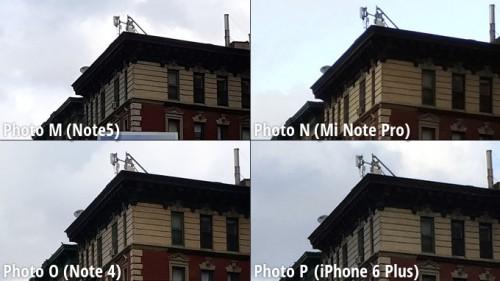 Galaxy Note 5 vs iPhone 6 Plus vs Note 4 vs MiNote comparatie camera 6