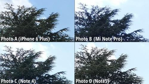 Galaxy Note 5 vs iPhone 6 Plus vs Note 4 vs MiNote comparatie camera 5