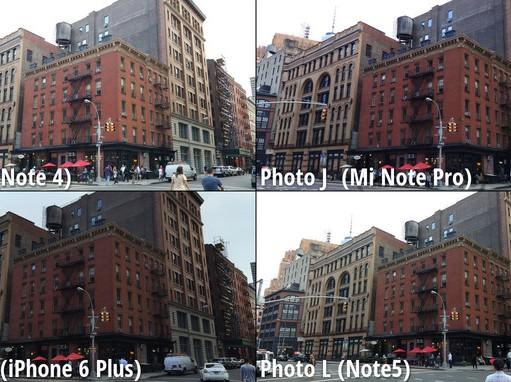 Galaxy Note 5 vs iPhone 6 Plus vs Note 4 vs MiNote comparatie camera