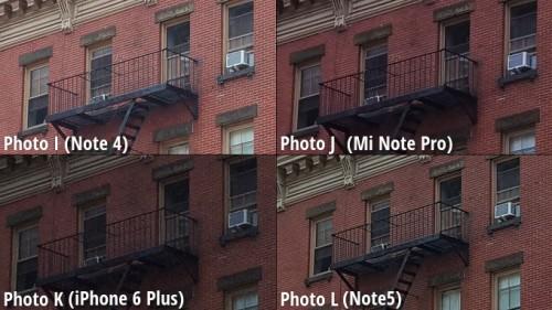 Galaxy Note 5 vs iPhone 6 Plus vs Note 4 vs MiNote comparatie camera 7