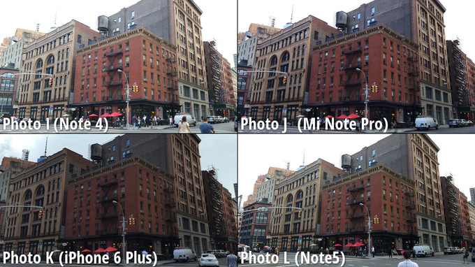 Galaxy Note 5 vs iPhone 6 Plus vs Note 4 vs MiNote comparatie camera