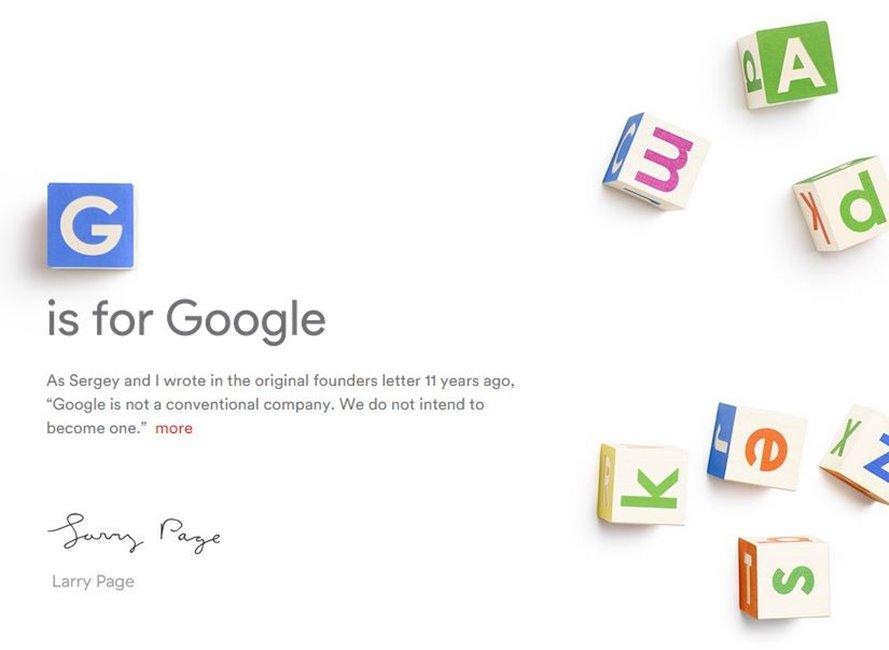 Google devine Alphabet