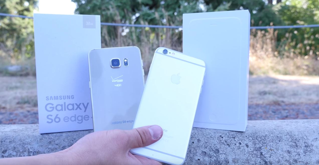 Samsung Galaxy S6 Edge Plus iPhone 6 Plus drop test