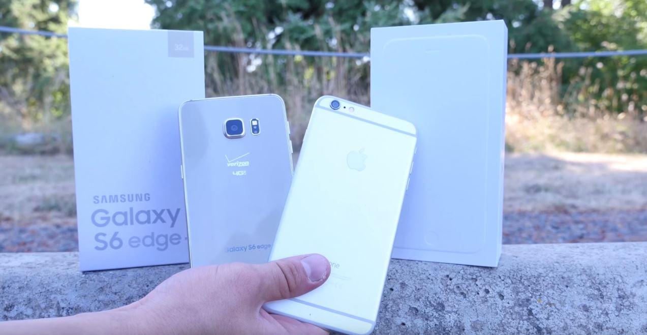 Samsung Galaxy S6 Edge Plus iPhone 6 Plus drop test