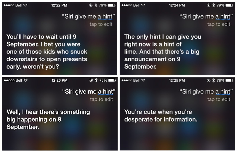 Siri prezentare iPhone 6S 9 septembrie 1