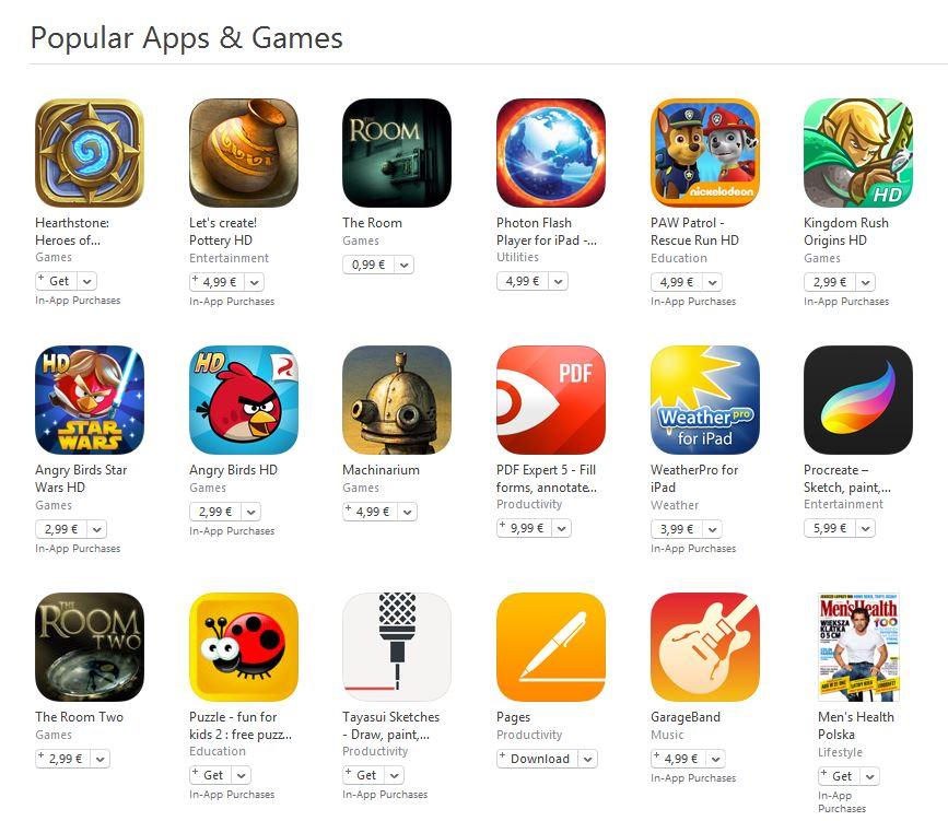 aplicatii si jocuri populare