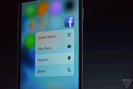 3D Touch iPhone 6S si iPhone 6S Plus Facebook