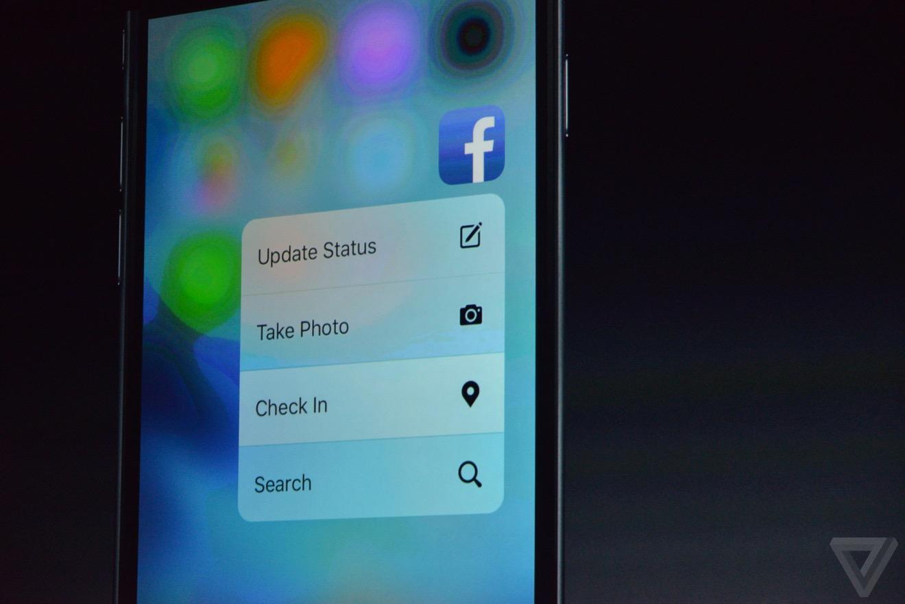 3D Touch iPhone 6S si iPhone 6S Plus Facebook prezentare detaliata