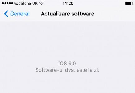 Actualizari Software iOS 9