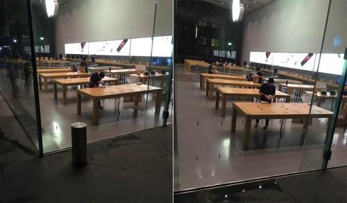 Apple Store amenajare lansare iPhone 6S 1