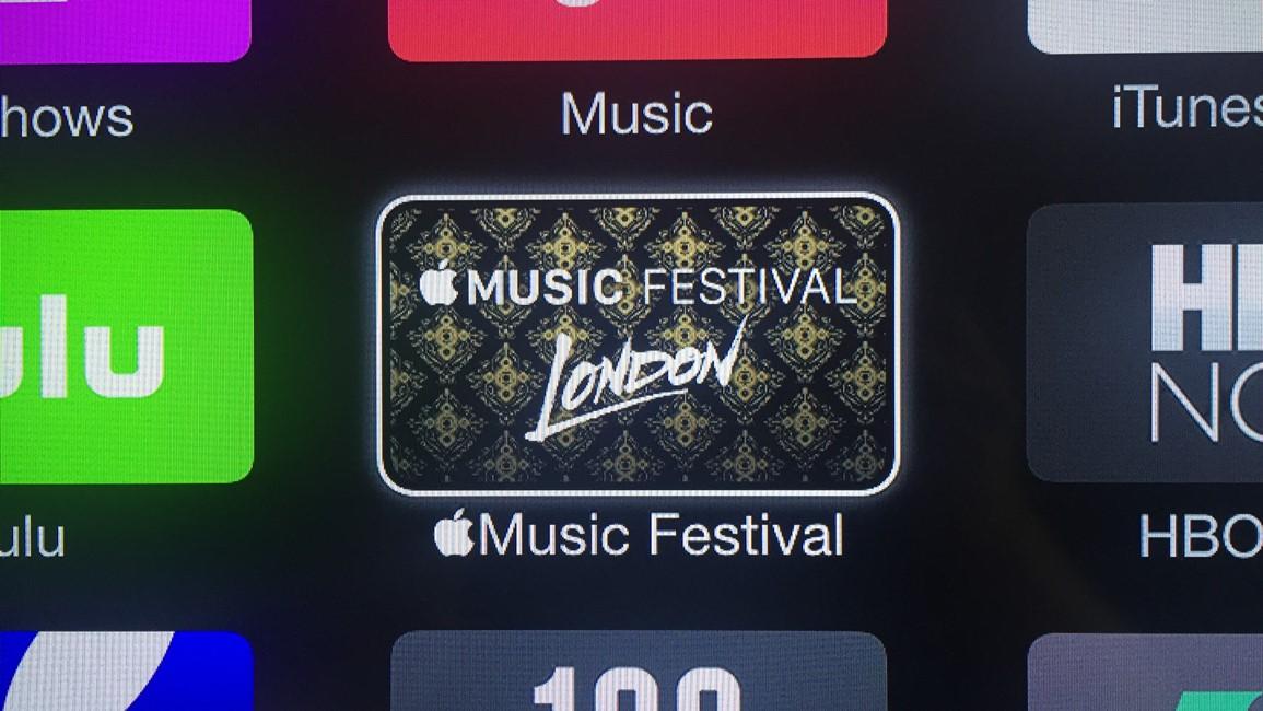 Apple TV festival muzica Londra