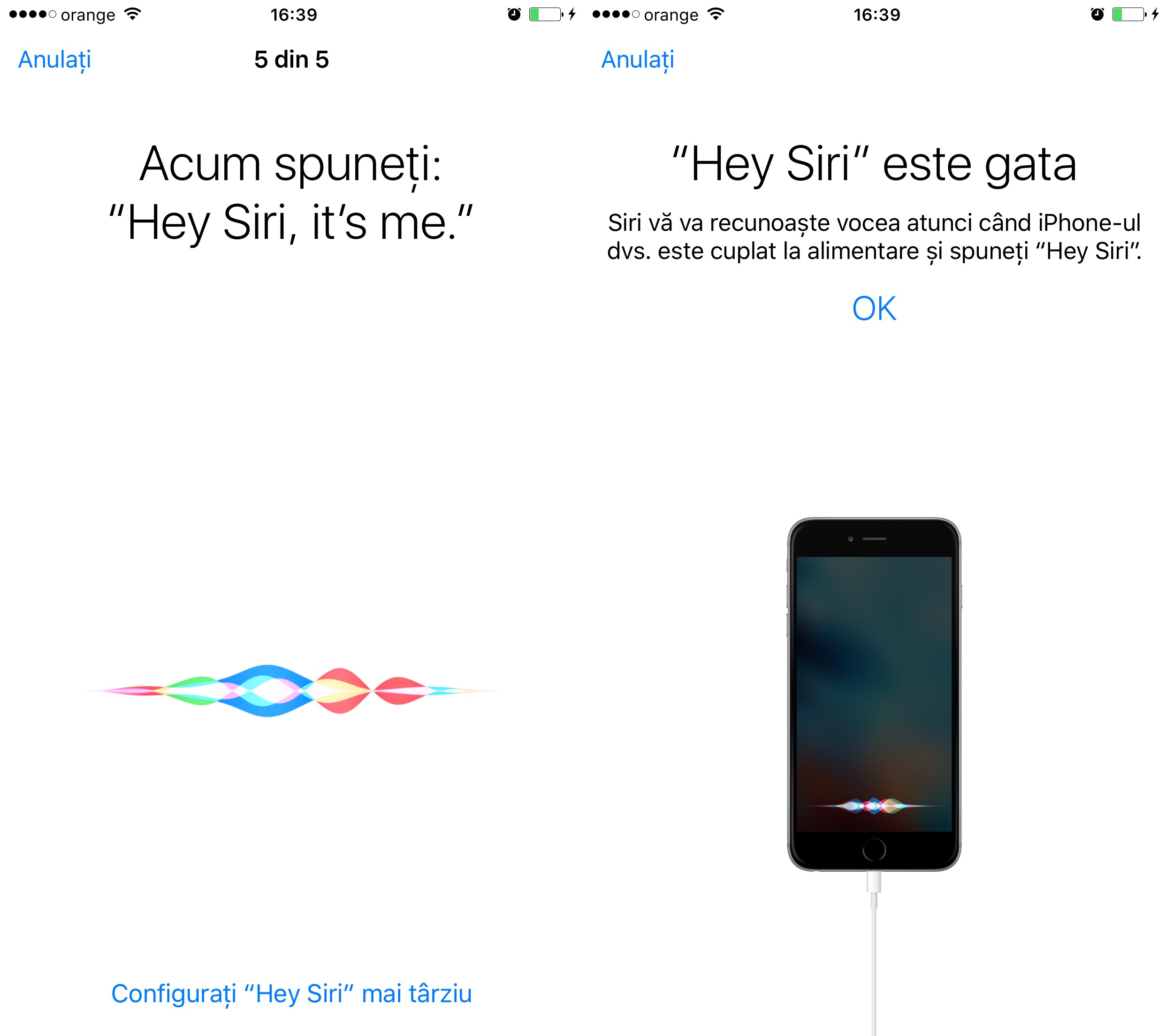 Configurare Hey Siri iOS 9 3