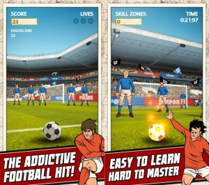 Flick Kick Football aplicatia gratuita a saptamanii