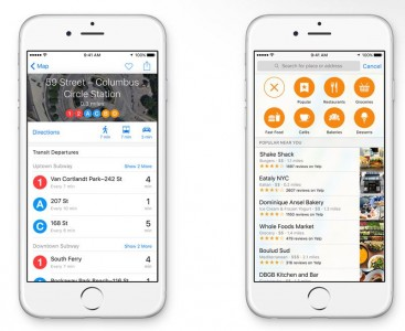 Harti - Apple Maps - iOS 9 - Transport Public - In Apropiere
