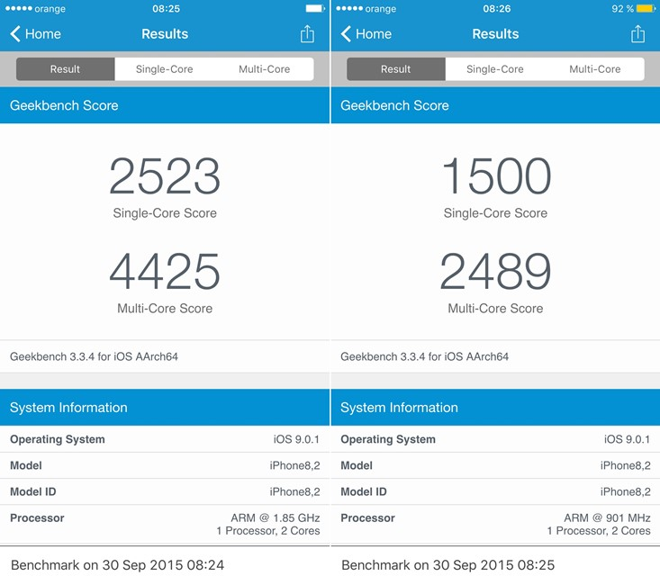 Low Power Mode transforma iPhone 6S in iPhone 5S 1