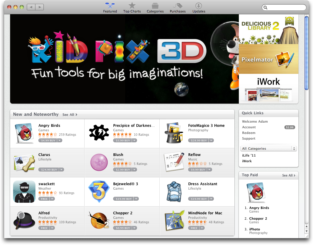 Mac App Store purchased