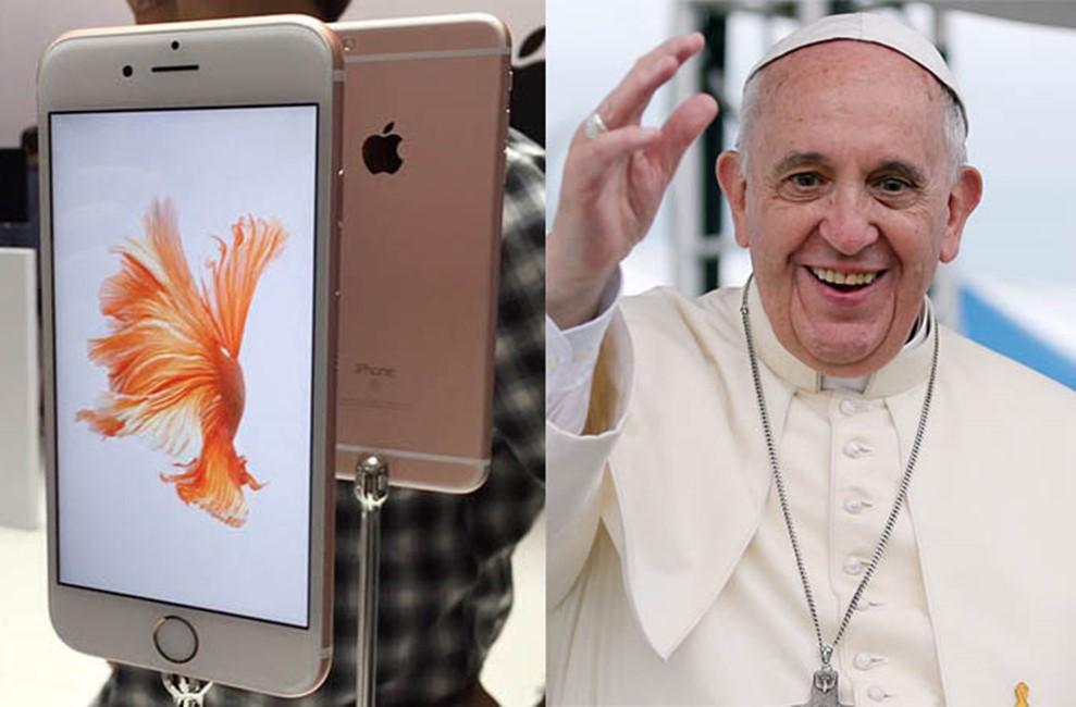 Papa Francisc livrari iPhone 6S