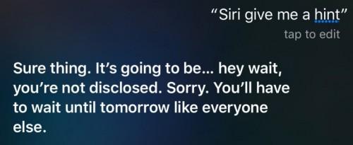 Siri conferinta iPhone 6S 6
