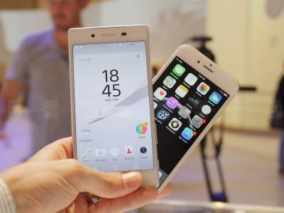 Sony Xperia Z5 vs iPhone 6 comparatie