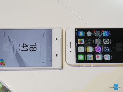 Sony Xperia Z5 vs iPhone 6 5