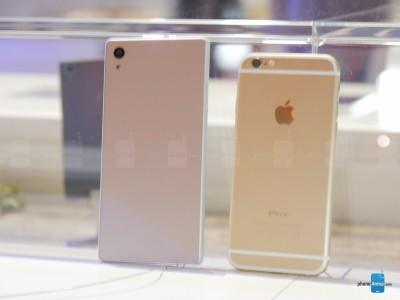 Sony Xperia Z5 vs iPhone 6 8