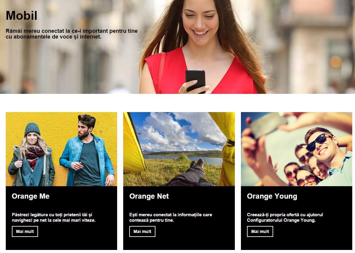abonamente Orange noi website