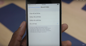 activare filmare 4K iPhone 6S iPhone 6S Plus