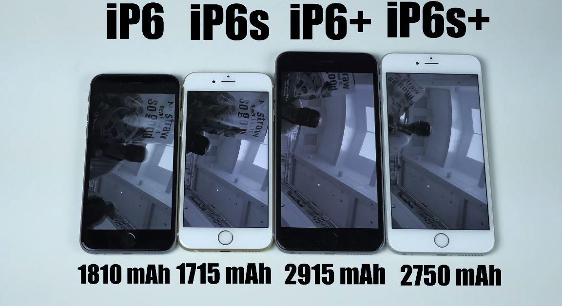 autonomie baterie iPhone 6S si iPhone 6S Plus