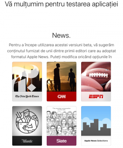 de ce nu apare aplicatia News iOS 9