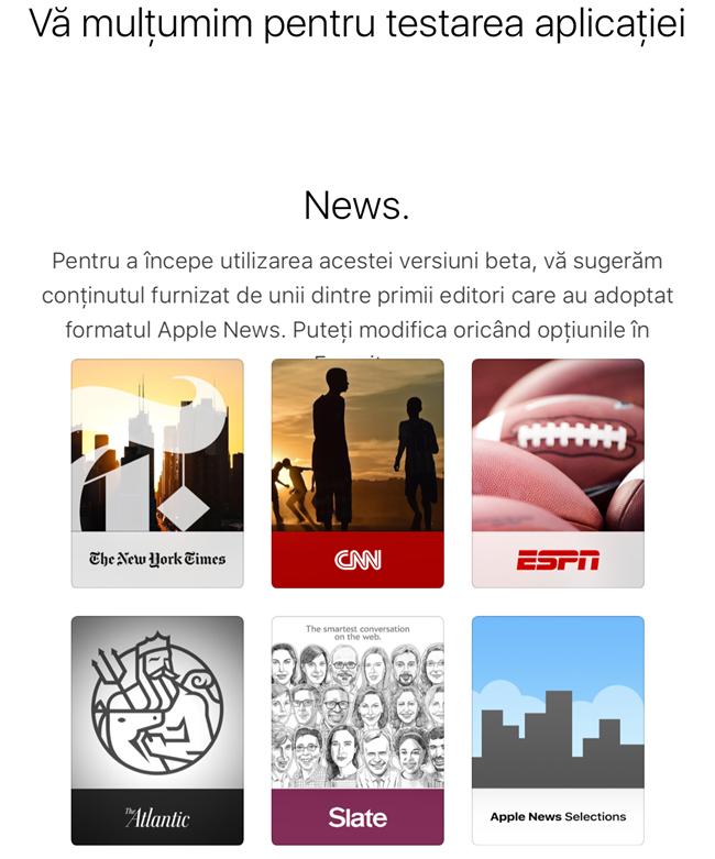 de ce nu apare aplicatia News iOS 9