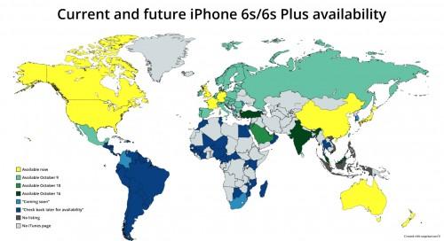 harta lansari iPhone 6S si iPhone 6S Plus