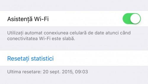 iOS 9 Asistenta Wi-Fi