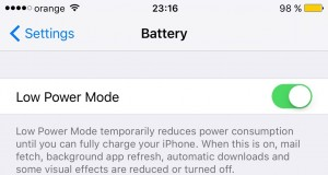 iOS 9 Lost Mode Low Power Mode