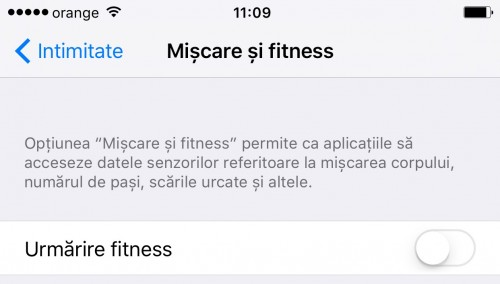 iOS 9 Miscare si Fitness