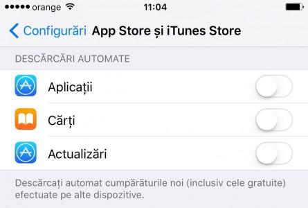 iOS 9 descarcari automate