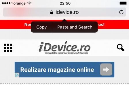 iOS 9 lipire cautare