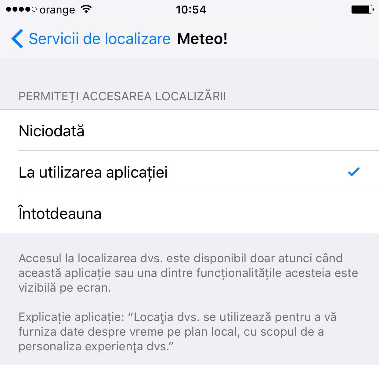 iOS 9 restrictionare acces GPS
