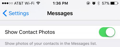 iOS 9.1 beta 2 imagine contacte
