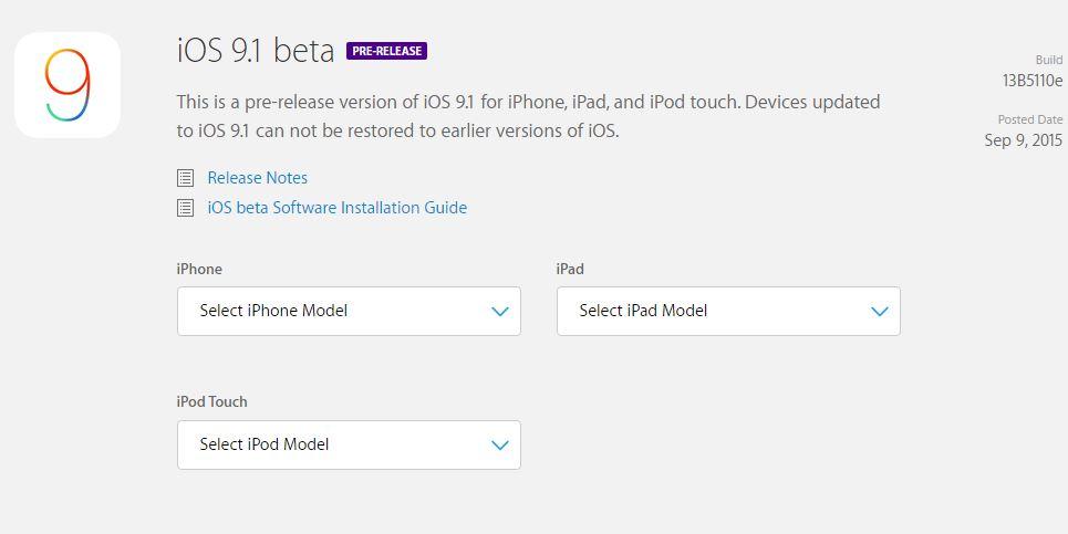 iOS 9.1 instalare