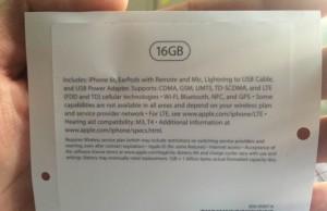 iPhone 6S 16 GB ambalaj