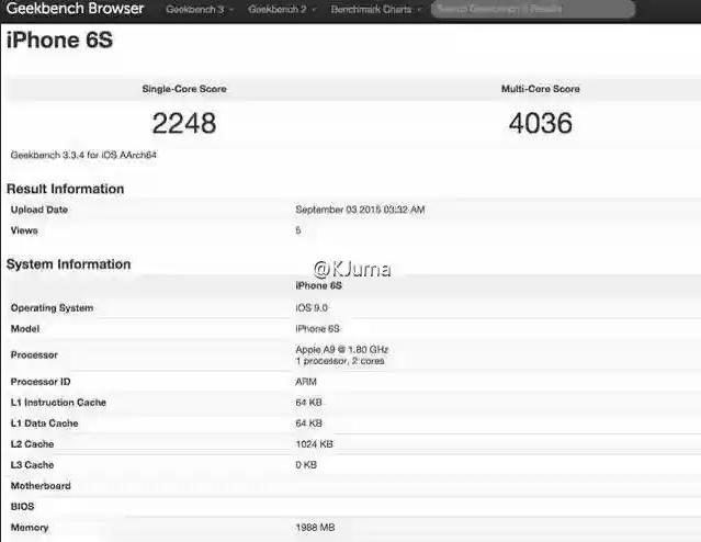 iPhone 6S 6S Plus test performante