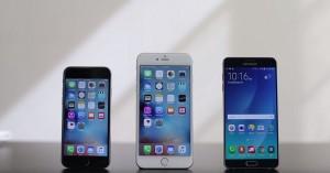 iPhone 6S Plus indoaie mai greu decat Samsung Galaxy Note 5