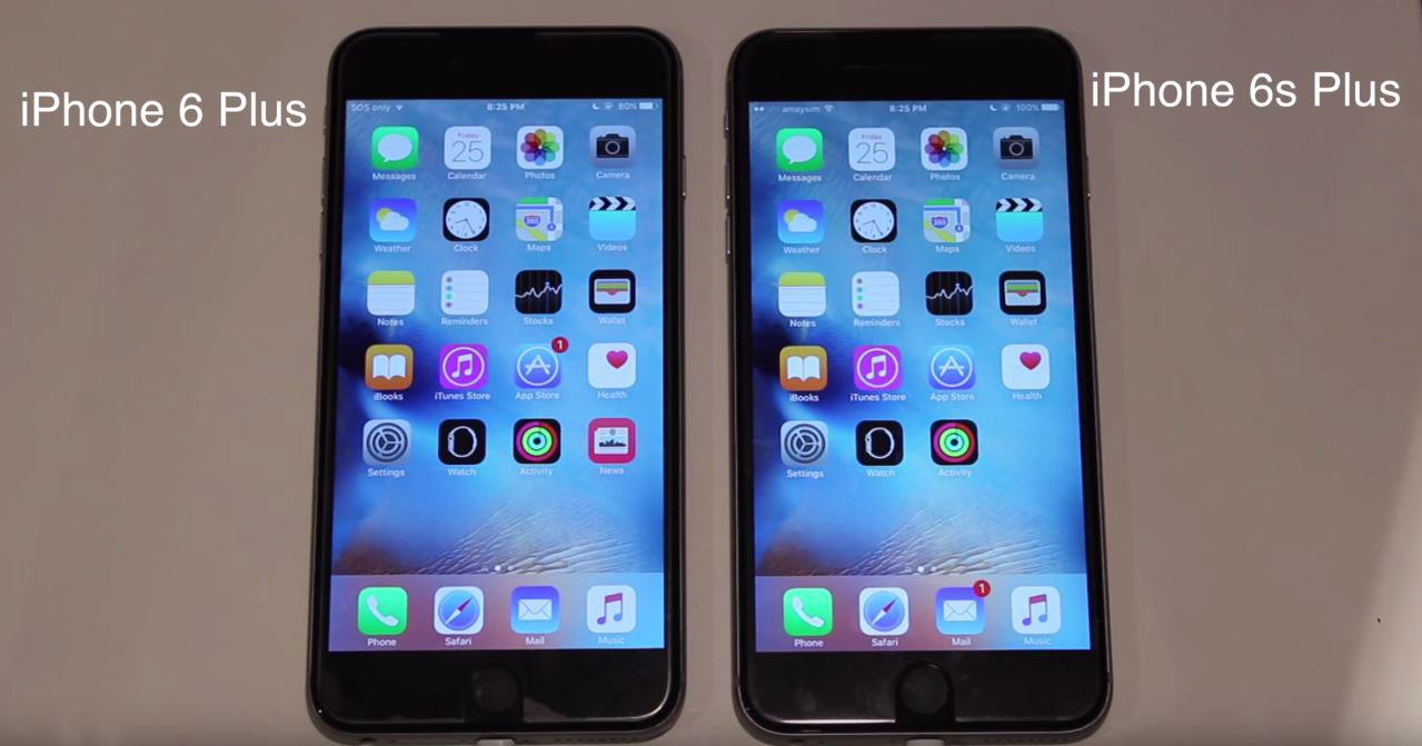 iPhone 6S Plus vs iPhone 6 Plus comparatie viteza