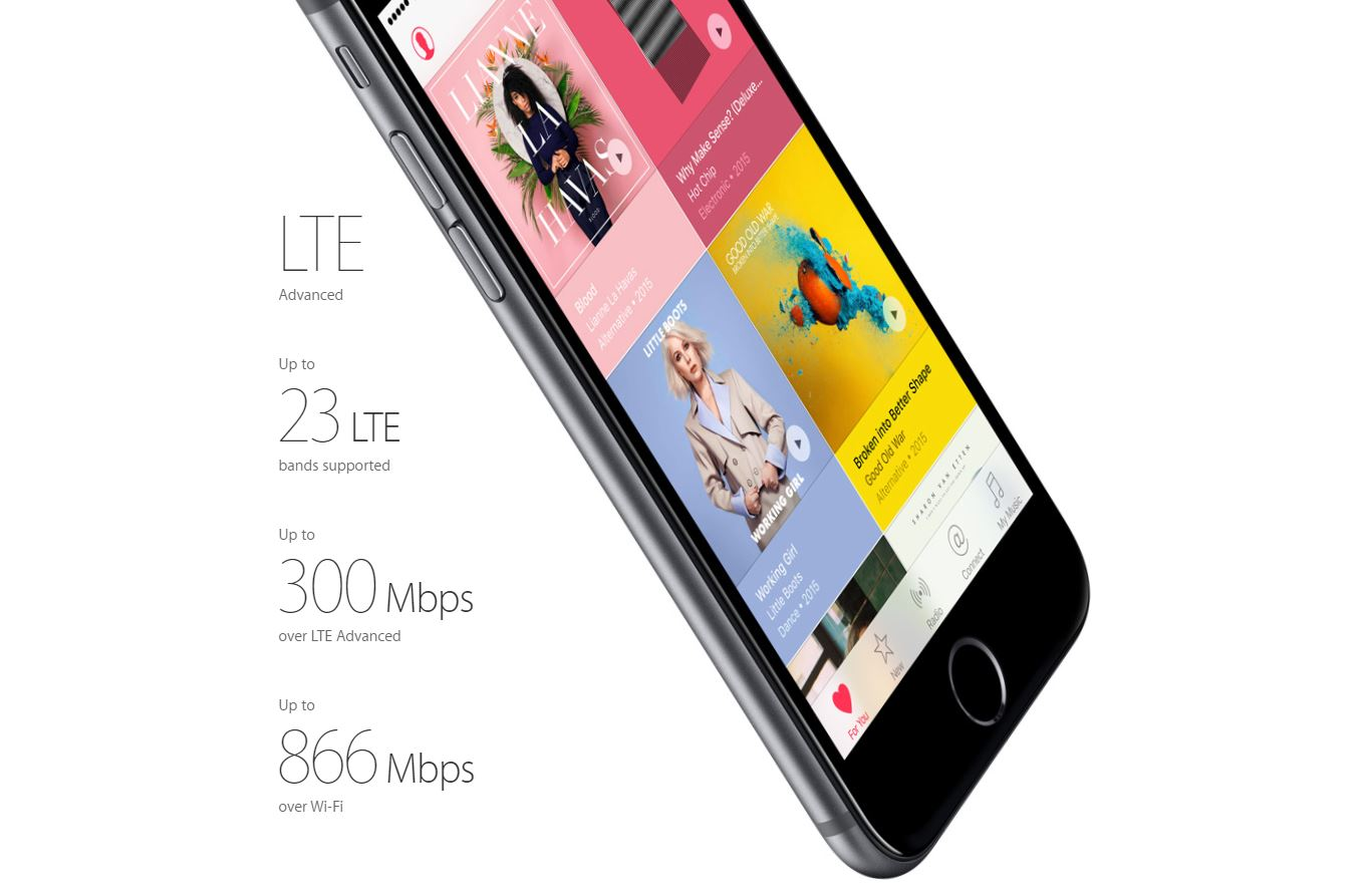 iPhone 6S si iPhone 6S Plus compatibile 4G+ 300 Mbps