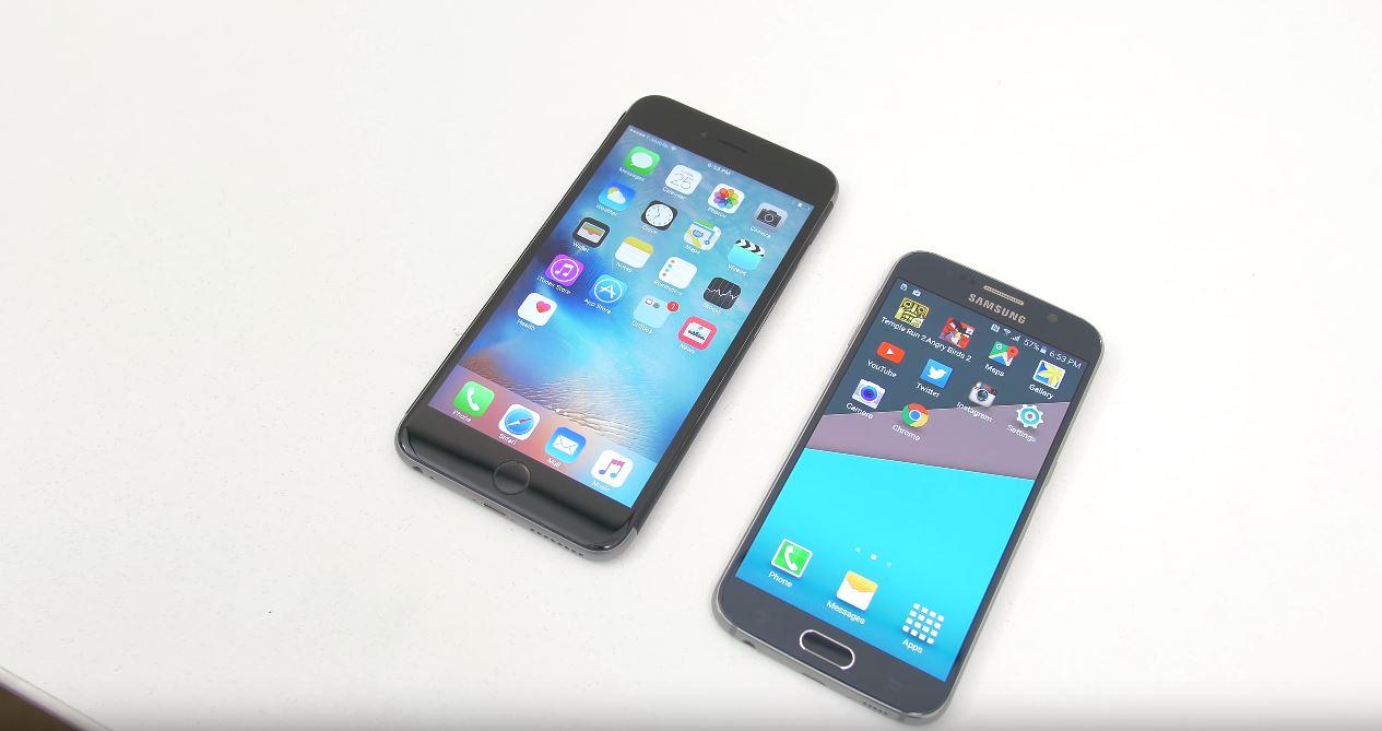 iPhone 6S umileste Samsung Galaxy S6 performante