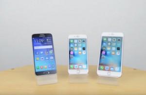 iPhone 6s vs Samsung Galaxy S6 vs iPhone 6s Plus