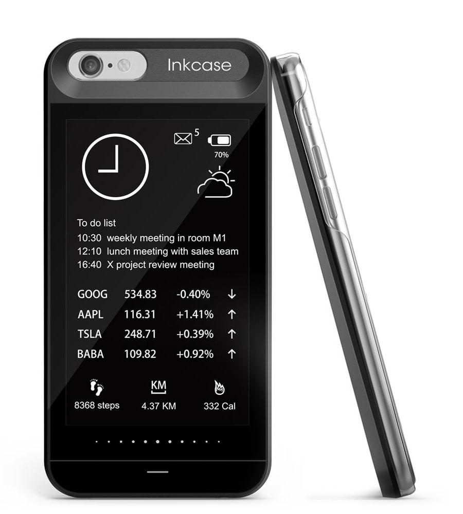 inkCase i6 carcasa ecran secundar iPhone 2