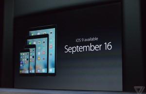 lansare iOS 9