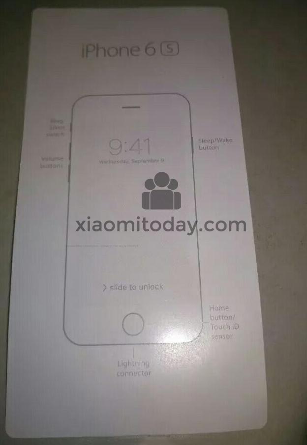 pozitionare butoane iPhone 6S
