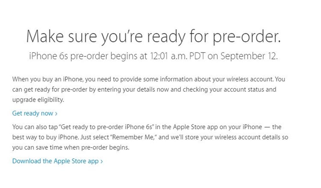 precomanda iPhone 6S